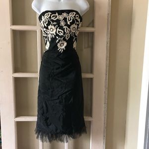 Laundry Silk Strapless Dress